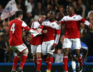 Fulham youth team celebrates scoring (Getty Images)