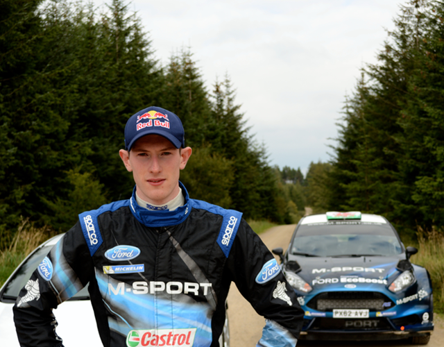 Elfyn Evans with his Ford Fiesta RS WRC  (M-Sport)