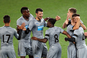 The Newcastle reserves celebrate together (Getty Images)
