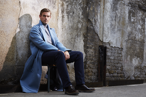 Tom Chilton in a long coat (Jamie Baker)