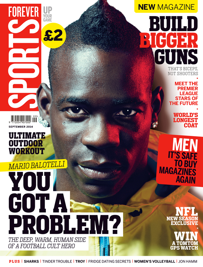 Forever Sports September cover 2014 Balotelli ()